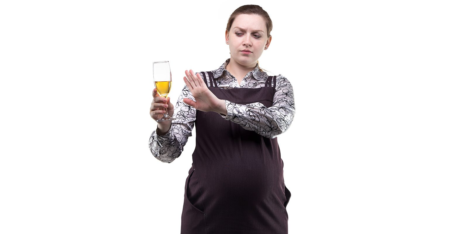 Pregnant-Woman-Refusing-Alcohol